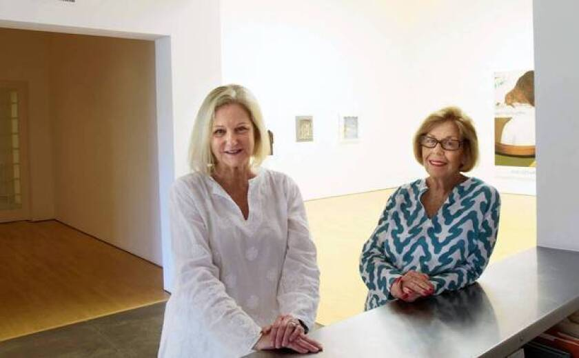 Wendy Brandow, left, and Margo Leavin are planning to close the Margo Leavin Gallery in West Hollywood.