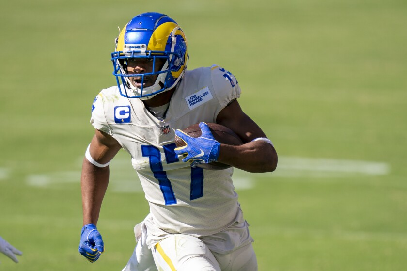 Rams wide receiver Robert Woods in action against the Philadelphia Eagles.