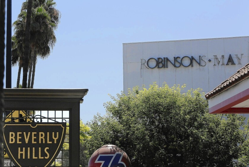 The signage was almost all that remained of the former Robinsons-May department store in Beverly Hil