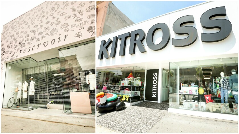 Multi-brand concept shop Reservoir and Kitross on Robertson Boulevard.