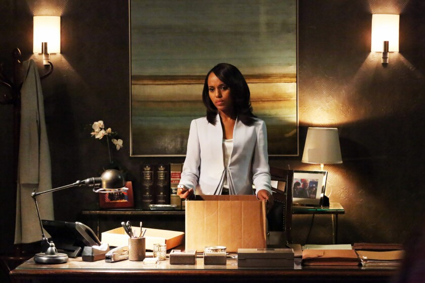 "Kerry Washington plays Olivia Pope in ABC's ""Scandal,"" a drama series with a number of female and minority leads and writers."