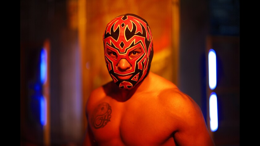 "King Cuerno is a star of ""Lucha Underground,"" which films in Boyle Heights and airs weekly on the El Rey Network."