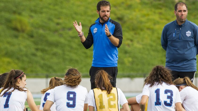 OLP girls soccer coach Kevin Soares guided the Pilots to two straight San Diego Section titles before winning the SoCal crown.