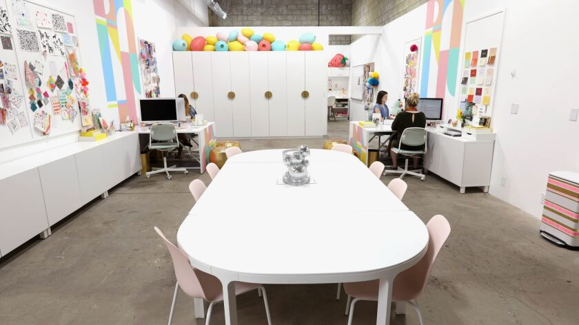 LOS ANGELES, CALIF. -- WEDNESDAY, JULY 11, 2018: New office space of designer Joy Cho, founder of th