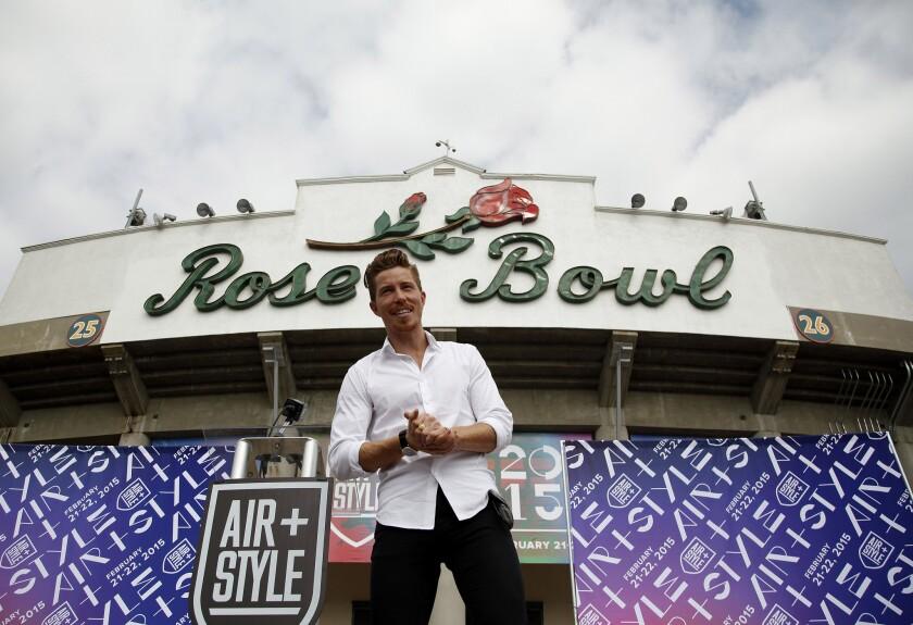 Shaun White at the Rose Bowl