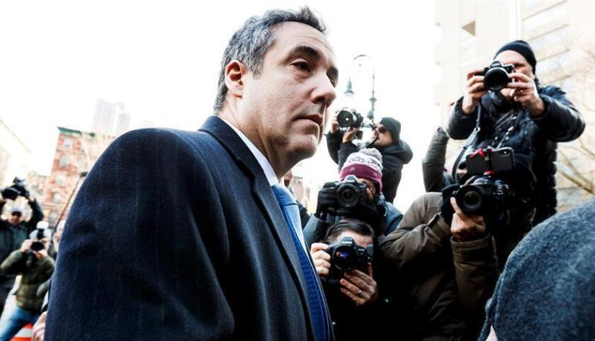 El exabogado personal de Donald Trump, Michael Cohen, a su llegada al Tribunal Federal de Estados Unidos en Nueva York (Estados Unidos), hoy, 12 de diciembre de 2018. EFE