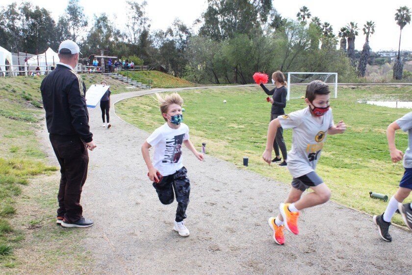 The Encinitas Country Day School held its annual Jogathon to raise funds for Gift of Life International.