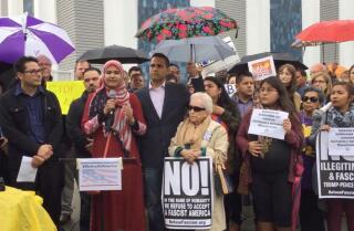 Community leaders rally in solidarity with Muslim community