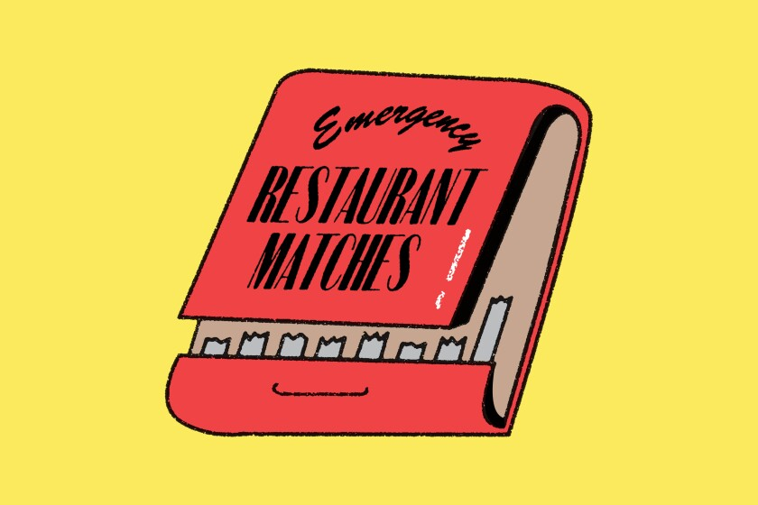Restaurant matchbook