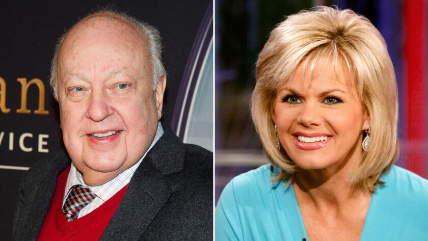 Gretchen Carlson, right, filed a lawsuit against Roger Ailes, left, alleging that he sabotaged her career after she rebuffed his sexual advances.