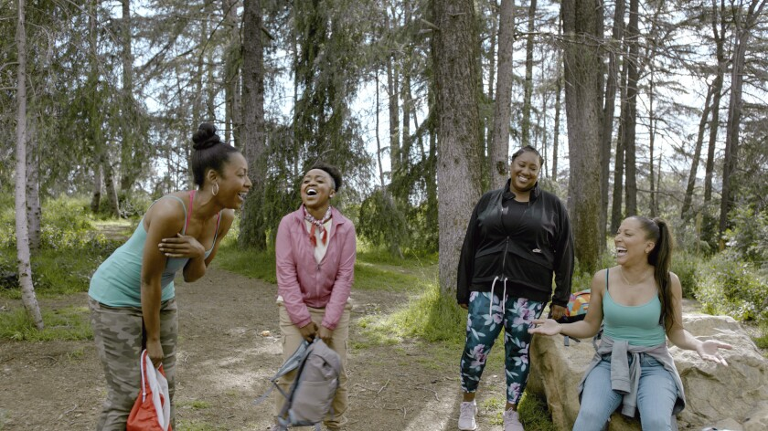 "The cast goes hiking on HBO's ""A Black Lady Sketch Show"""