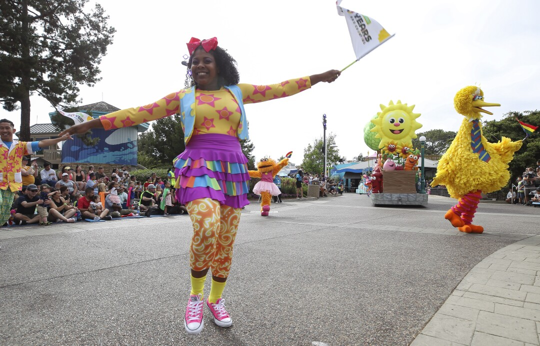 The Sesame Street Party Parade at SeaWorld.