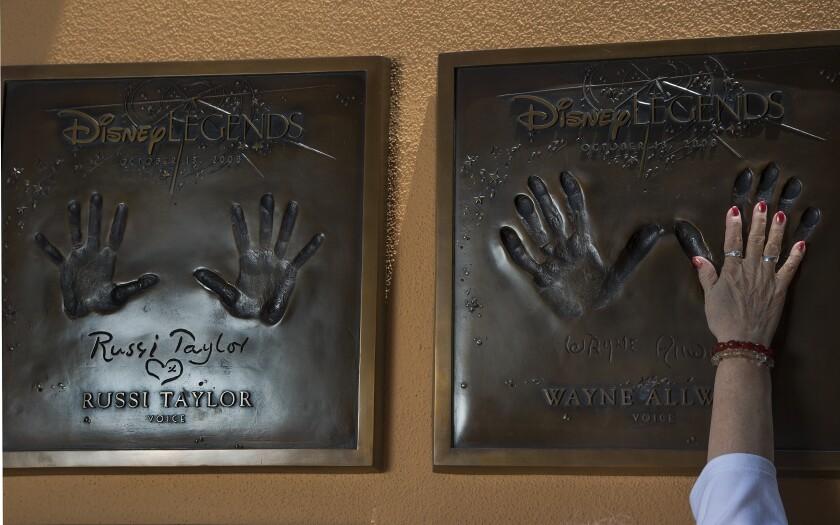 Russi Taylor's plaque at Disney Studios