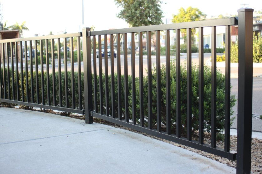 The rusted-out guardrails at Bird Rock Avenue were replaced recently, funded by MAD money.