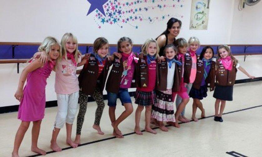 Girl Scout Troop 1651 members.