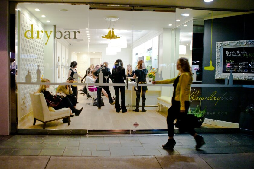 Drybar's first salon in Brentwood