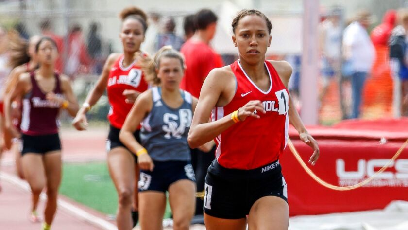 La Jolla's Sakura Roberson finished fifth in the 800 at the state finals.