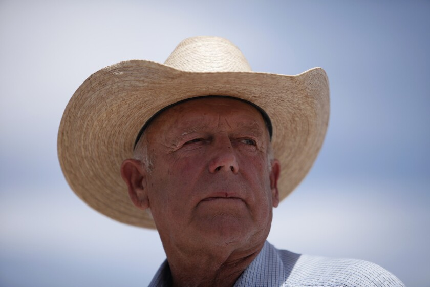 Nevada rancher Cliven Bundy, who has won support in his standoff with the federal government over grazing rights, is drawing fire for comments about African Americans and slavery.