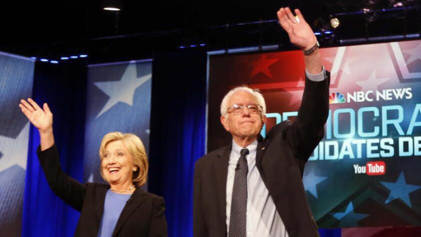 Hillary Clinton y Bernie Sander.