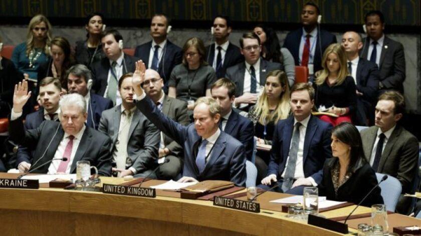 """Estados Unidos advirtió que """"tomará nota de los nombres"""" de los países que rechacen en Naciones Unidas su reciente reconocimiento de Jerusalén como capital de Israel."""