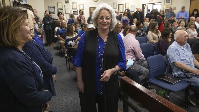LANCASTER, CA-APRIL 18, 2019: Antelope Valley Union High School District Board of Trustees member J