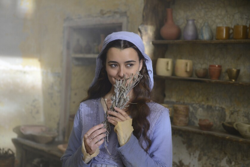 """Cote de Pablo costars as Shirah in """"The Dovekeepers,"""" a miniseries adaptation of Alice Hoffman's feminist retelling of the ancient events at Masada."""