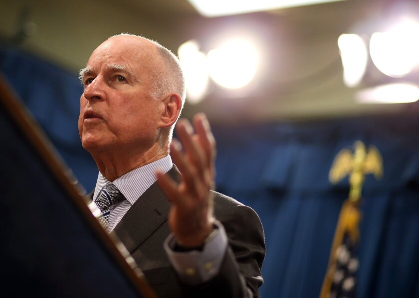 Gov. Jerry Brown speaks about the drought