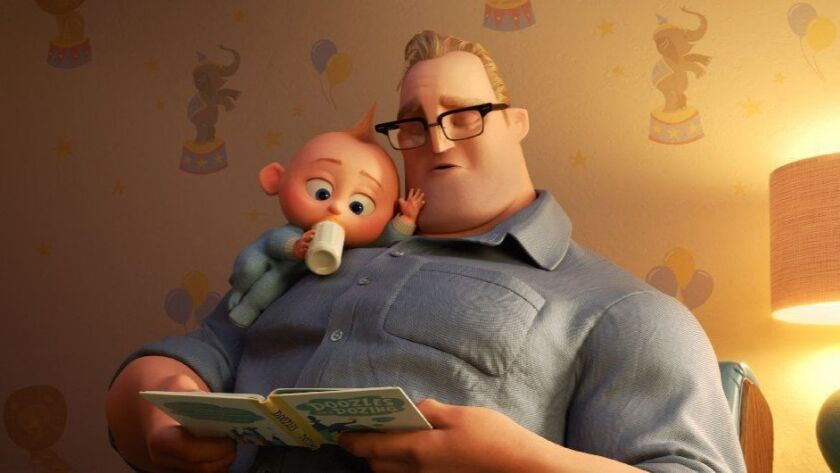 "In ""Incredibles 2,"" Bob navigates life at home with the Parr kids while Helen leads a campaign to bring back Supers."
