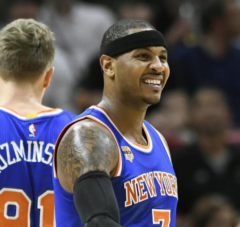 El alero de los Knicks de Nueva York Carmelo Anthony. EFE/Archivo
