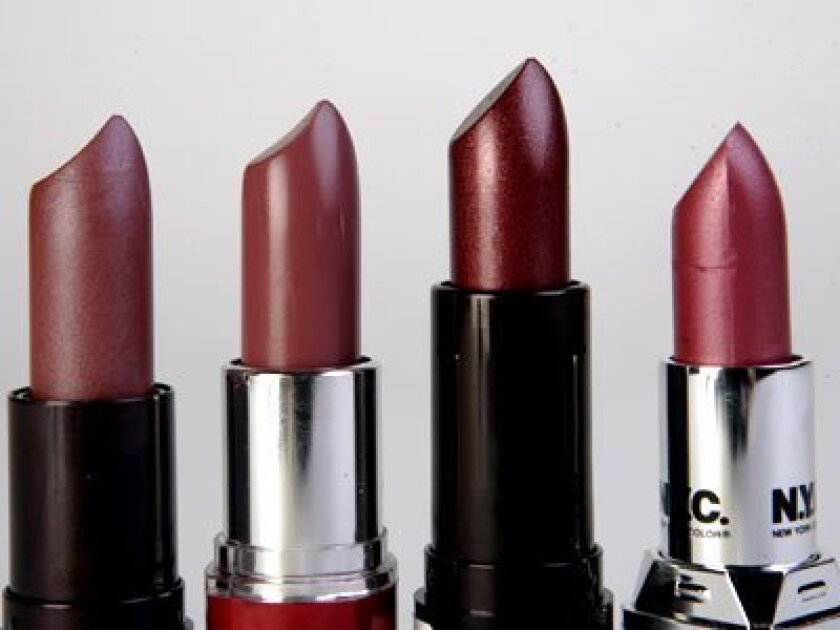 Sticking it out: When times are tough, low-cost lipstick can shine.
