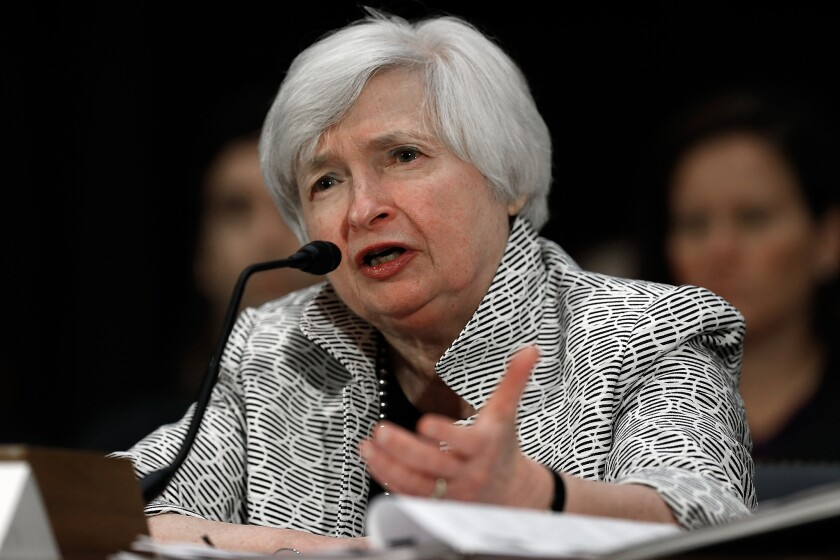 Fed Chairwoman Janet L. Yellen has stressed that the Fed plans to move slowly so the federal funds rate, which is used to set terms for many consumer and business loans, would remain low for a while.