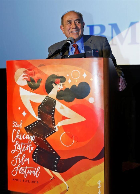 El fundador y director ejecutivo del Centro Internacional Cultural Latino Pepe Vargas durante un evento. EFE/Archivo