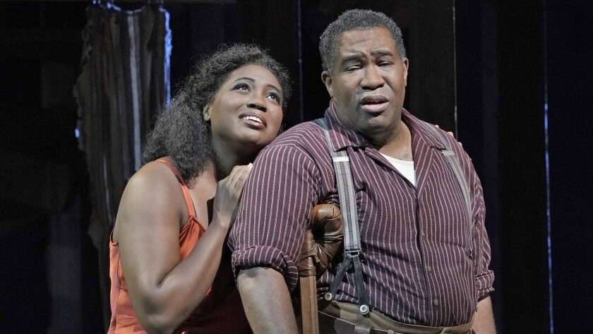"""Angel Blue and Eric Owens in the Gershwins' """"Porgy and Bess"""" on """"Great Performances at the Met."""""""
