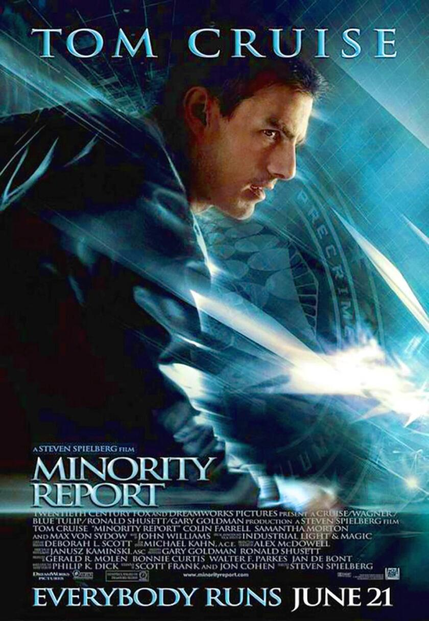 'Minority Report' was Hollywood fantasy, but a research article published in the journal Cancer Discovery earlier this year suggests the idea isn't so far-fetched, at least in terms of potentially predicting and preventing individual cancers.