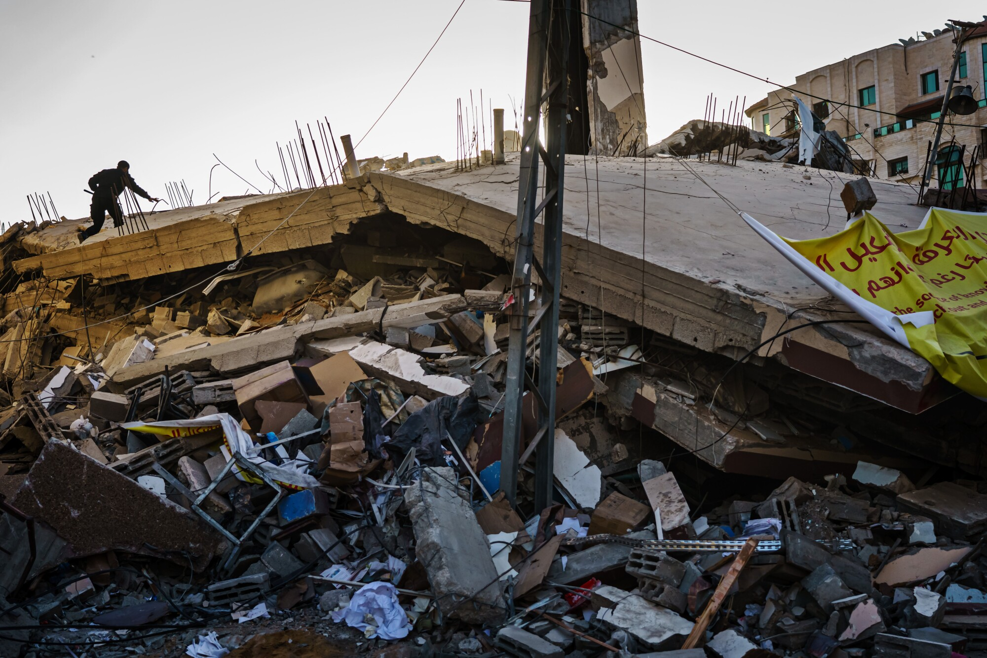 Ruins of Samir Mansour's bookstore
