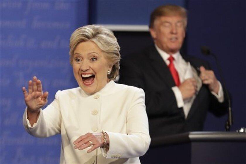 La candidata demócrata a la Casa Blanca, Hillary Clinton, ganó este miércoles el tercer debate a su rival republicano, Donald Trump, con un margen de 13 puntos (52 % a 39 %), el menor de los tres cara a cara, según una encuesta de la CNN.