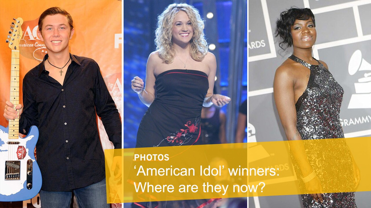 """Fox has announced that """"American Idol"""" will go off the air after its 15th season next spring. Here's a look back at the """"Idol"""" winners over the years and what they're up to now. Shown from left: Scotty McCreery, Carrie Underwood, Fantasia Barrino"""