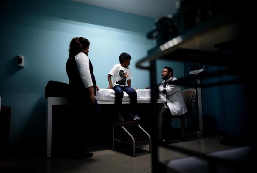 En un informe, la Unicef indicó que 68.409 niños y niñas migrantes fueron detenidos en México entre 2016 y abril de 2018, de los cuales el 91 por ciento fueron deportados a Centroamérica. EFE/Archivo