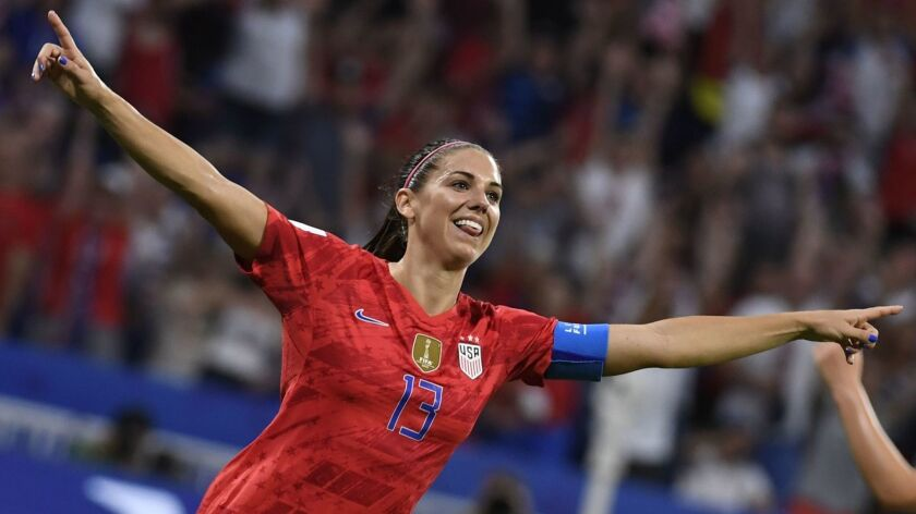 Alex Morgan could make her Tottenham debut when the club plays Manchester United on Saturday.