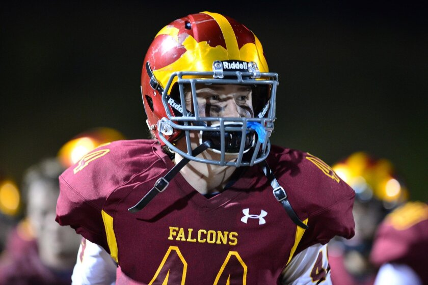 The TPHS game against Santa Fe Christian featured a heroic effort by Louis Bickett and the Falcon defense.