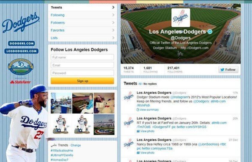 Dodgers exploring rewards program for using social media sites