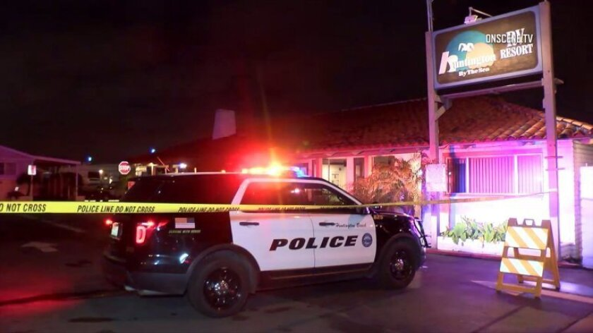 A domestic disturbance call resulted in an officer-involved shooting Monday night at the Huntington by the Sea RV Resort in Huntington Beach.