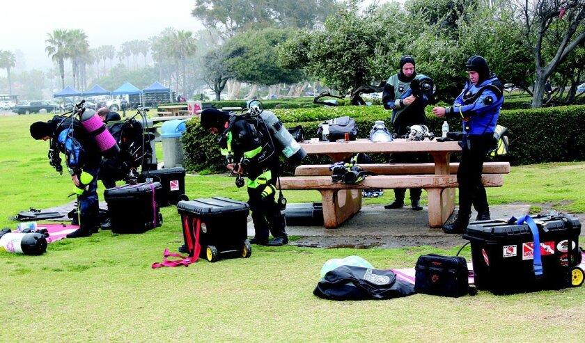 Divers at La Jolla Shores suit up for some underwater exploration. File photo