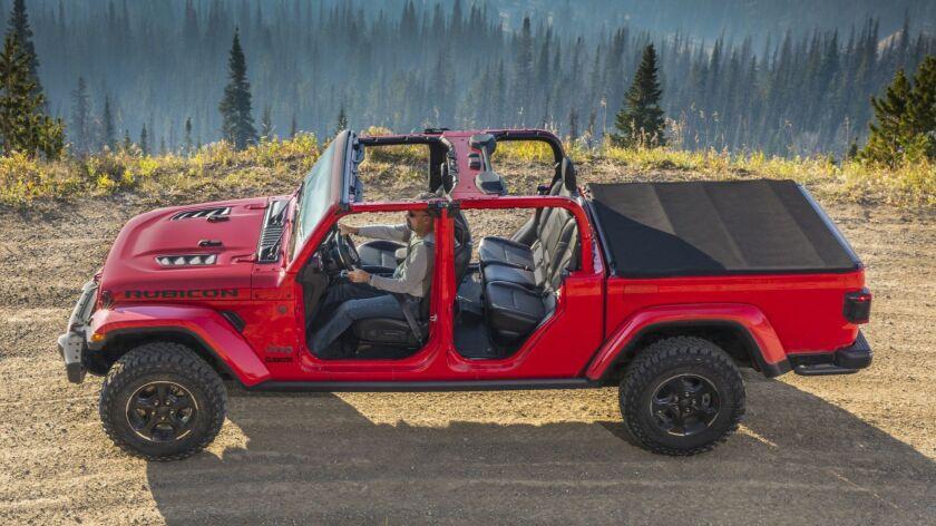 2020 Jeep Gladiator pickup, based on the four-door Wrangler.