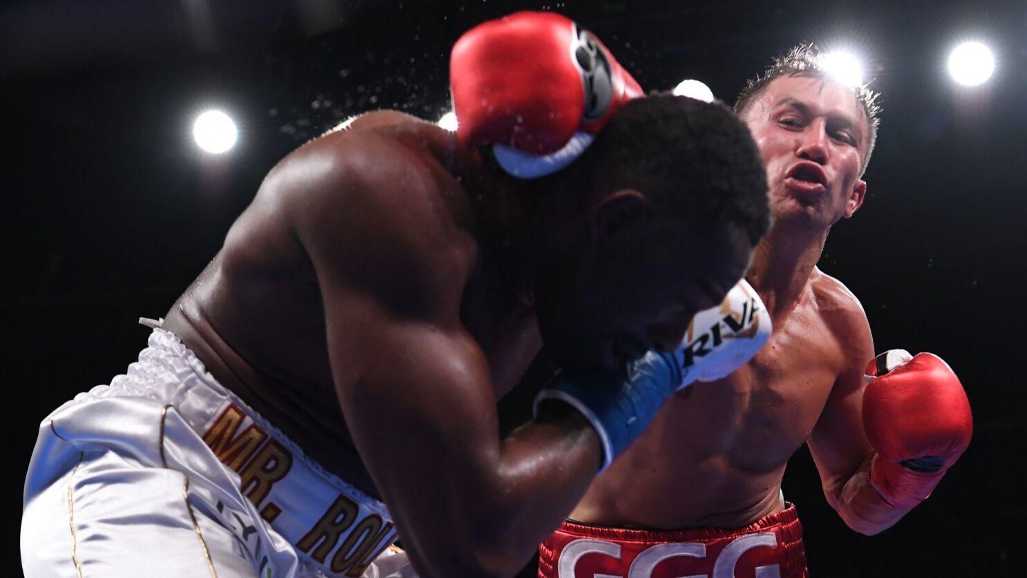 Gennady Golovkin knocks out Steve Rolls with devastating punch - Los