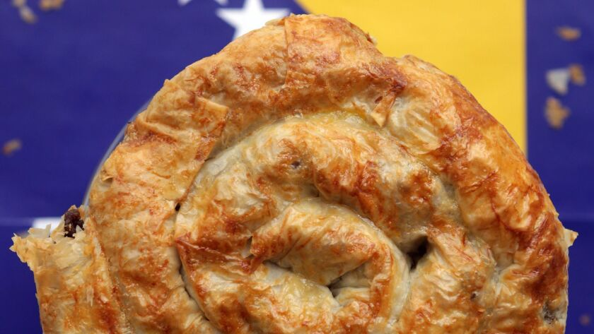 Meat- and cheese-filled bureks will be among the food offerings at the San Diego Serbian Festival.