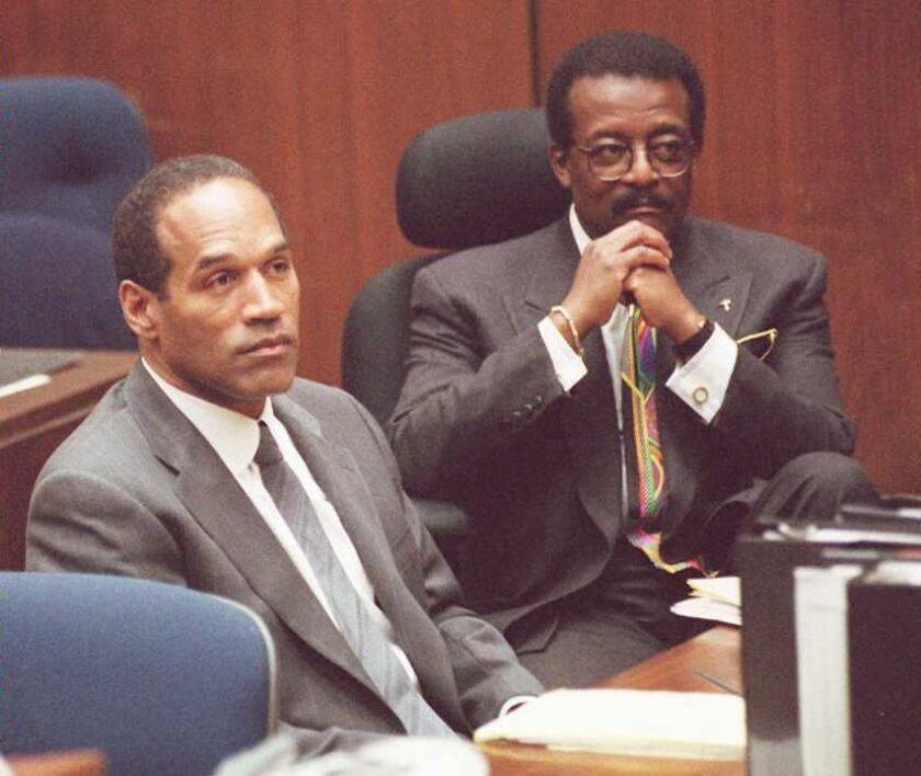 OJ Simpson and attorney Johnnie Cochran Jr.