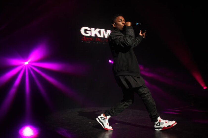 Kendrick Lamar has been responsible for one of pop music's most memorable moments of 2012 with his debut album.