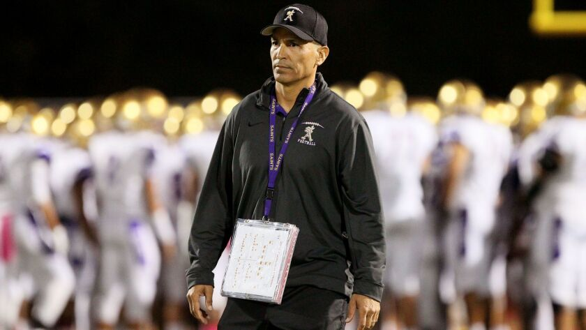 St. Augustine football coach Richard Sanchez guided the program to two section championships and was 83-29 in nine years with the Saints, the best career win-loss record in the school's 95-year history.