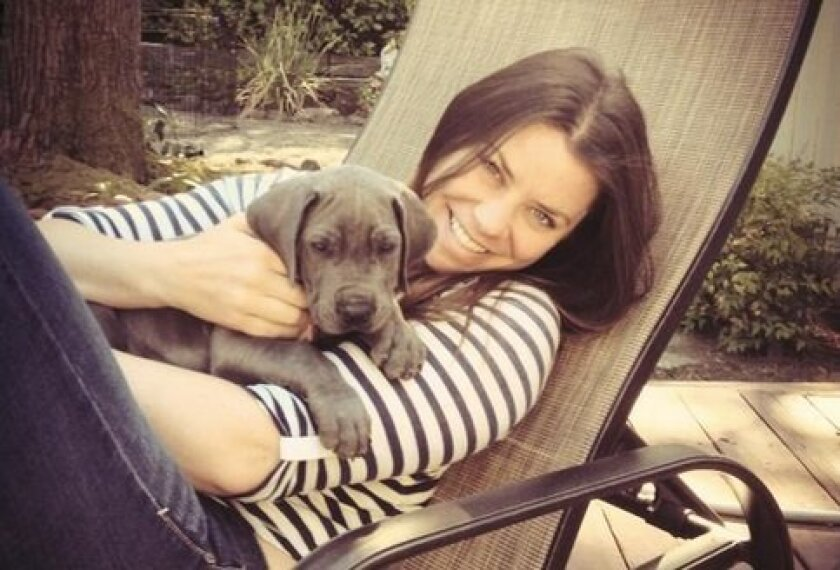 Brittany Maynard and her dog Charlie in San Francisco.